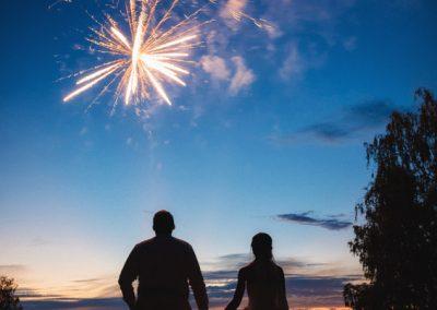 Feuerwerk am See