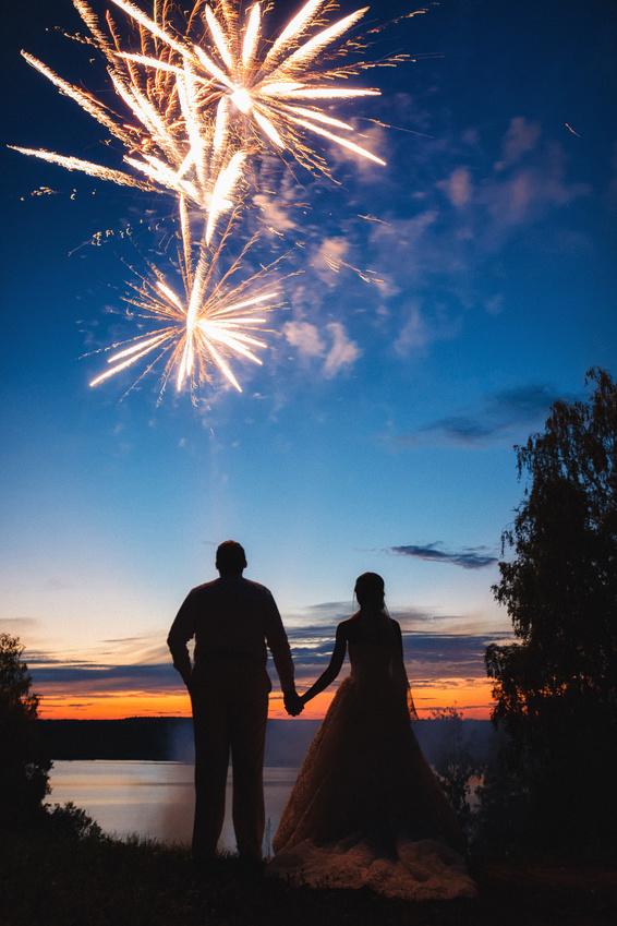 Hochzeitsfeuerwerk buchen